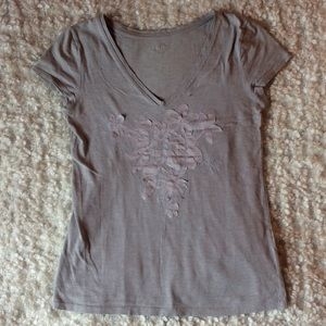 Ann Taylor LOFT grey T-shirt